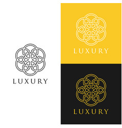 abstract logo with circle line ornament luxury vector image