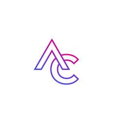 Ac monogram line logo vector