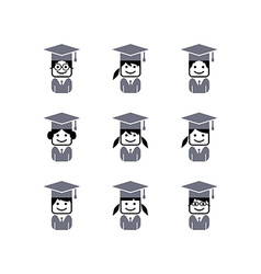academic college student avatar vector image