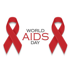 aids awareness red ribbons world aids day concept vector image