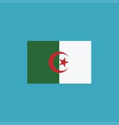 algeria flag icon in flat design vector image