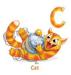 Alphabet letter c cat vector