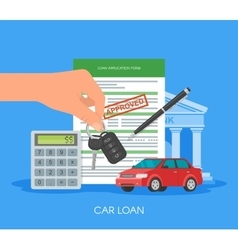 Approved car loan Buying vector image