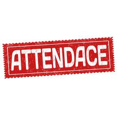 Attendance grunge rubber stamp vector