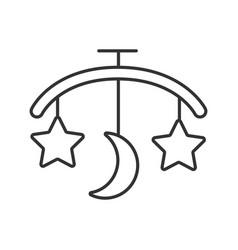 Babed carousel linear icon vector