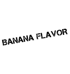 Banana Flavor rubber stamp vector