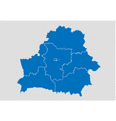 belarus map - high detailed blue map with vector image
