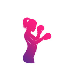 Boxing girl vector