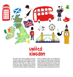 british london symbols poster template vector image