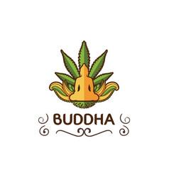 buddha design template vector image