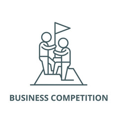 business competition line icon linear vector image