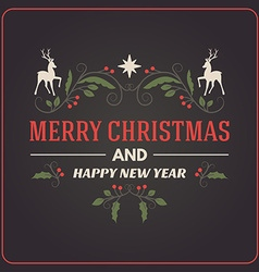 Christmas Postcard Decorative Greeting with vector