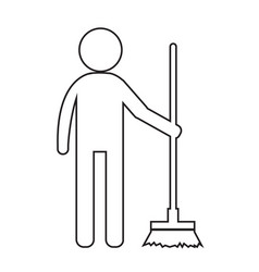 Cleaner man and cleaning tool equipment people vector