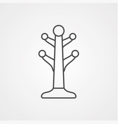 coat stand icon sign symbol vector image