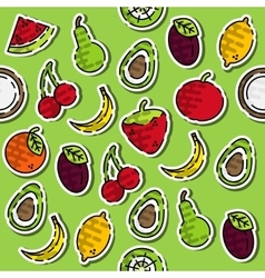Colored fruits pattern vector