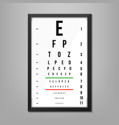 Creative of eyes test charts vector