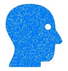 Customer Profile Grainy Texture Icon vector image