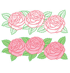 Drawing flower garland vector