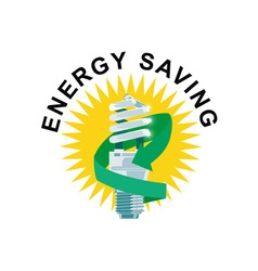 Energy Saving Label Lightbulb vector
