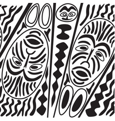 Ethnic seamless pattern tribal style african mask vector