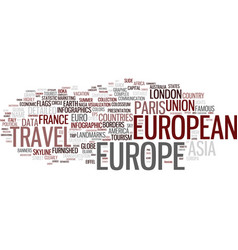 Europe word cloud concept vector