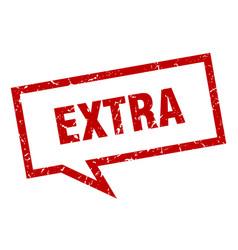 Extra sign extra square speech bubble extra vector