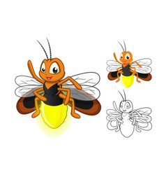 Firefly Cartoon Character vector image