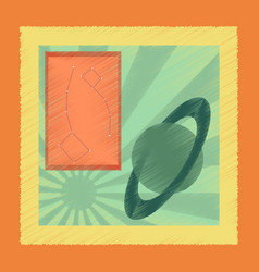 Flat shading style icon astronomy lesson vector
