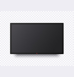 Flat tv screen mockup black television display on vector