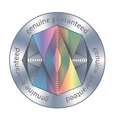 Genuine guaranteed assurance sticker round vector