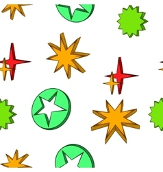 Geometric figure star pattern cartoon style vector