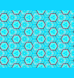 geometric seamless image assembled from hexagons vector image