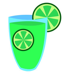 glass citrus juice on white background vector image