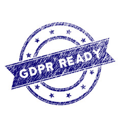 Grunge textured gdpr ready stamp seal vector