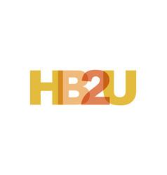 hb2u phrase overlap color no transparency concept vector image