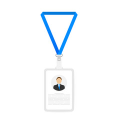 identification card for man trendy flat lanyard vector image