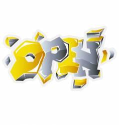inscription open vector image