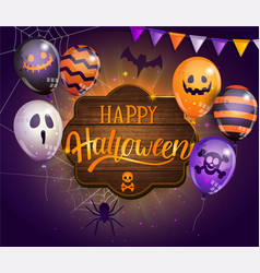 invitation card for happy halloween party vector image