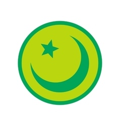 Islam symbol flat icon vector image