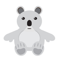 isolated stuffed koala toy vector image