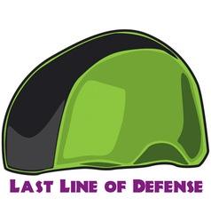 Last Line of Defense vector image
