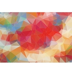 Light red polygonal background with triangle vector image
