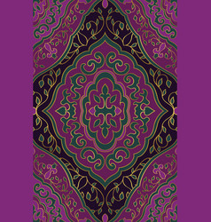 lilac floral ornament vector image