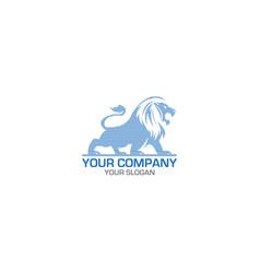 line lion logo design vector image