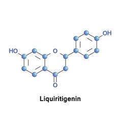 Liquiritigenin is a flavanone vector