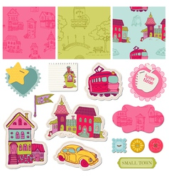 Little Town Scrap vector