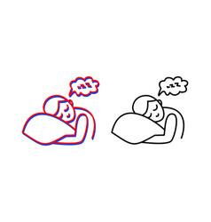 Man asleep logo world sleep day vector
