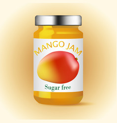 mango glass jam design vector image