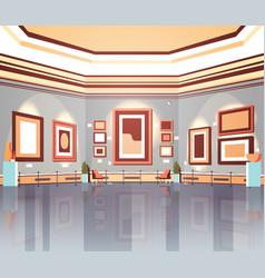 modern art gallery in museum interior creative vector image