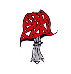 mushroom icon design sticker and tattoo art vector image